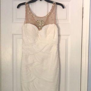 Adrianna Papell illusion bodice jersey dress